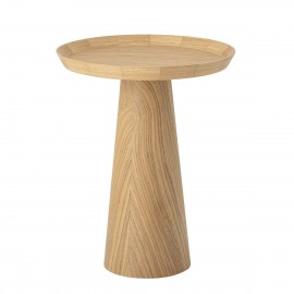 bloomingville luana table bout de canape design rond bois