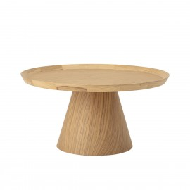 bloomingville luana table basse ronde design bois chene clair