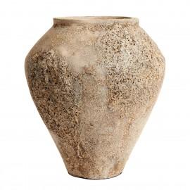 Grande jarre terre cuite texturée Muubs Trace 55 sable