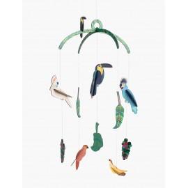 studio roof mobile oiseaux exotiques en carton