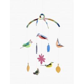 mobile d oiseaux en carton a suspendre studio roof garden birds
