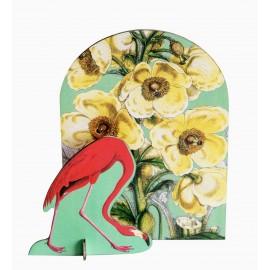 sculpture en carton pop out card studio roof romantique flamand rose
