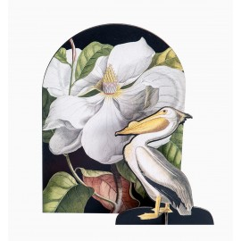 sculpture deco en carton studio roof pop out card pelican romantique