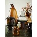 madam stoltz vase verre souffle teinte marron style classique chic
