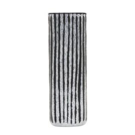 house doctor surat vase vertical carre rayures gris noir
