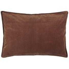 ib laursen housse coussin rectangulaire velours rouille 50 x 70 cm