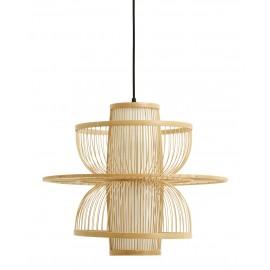 nordal sigyn abat jour de suspension design retro bois bambou