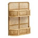 nordal lucca etagere murale cannage rotin tresse
