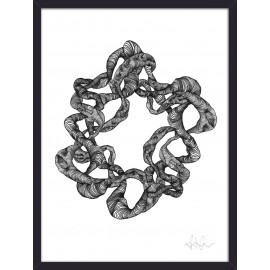 nordal wreath illustration cadre bois noir artiste Jesper Boe