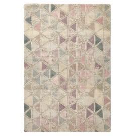 nordal tapis ton rose pastel motifs tissage jacquard 200 x 290 cm