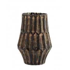 madam stoltz vase vintage verre marron vieilli