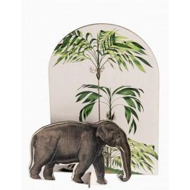 studio roof tropiacal elephant decoration en carton