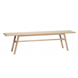 grand banc en bois naturel chene clair hubsch 180 cm