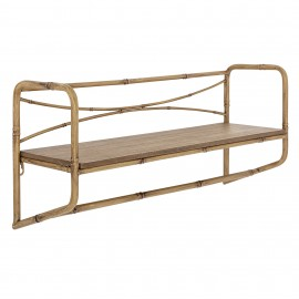 etagere murale styyle campagne metal imitation bois bloominville rod