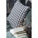 ib laursen housse de coussin a carreaux gris vintage 50 x 50 cm