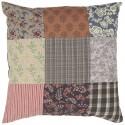 housse de coussin patchwork multicolore coton ib laursen 50 x 50 cm