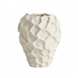 vase sculptural organique gres muubs soil blanc