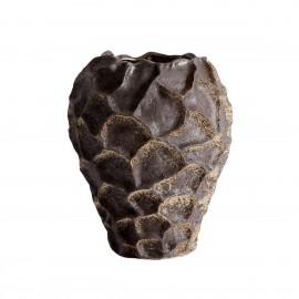 muubs soil vase sculptural organique gres texture brun