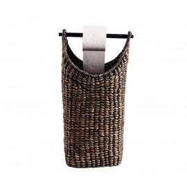Porte-papier WC panier de rangement tressé jacinthe d'eau Muubs
