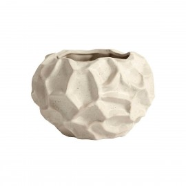muubs soil cache pot aspect organique surface texturee gres blanc