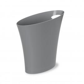 umbra skinny poubelle de bureau design avec poignee plastique gris