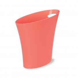 corbeille a papier design rose saumon corail umbra skinny