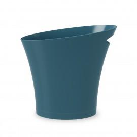 corbeille a papier fine design bleu canard umbra skinny