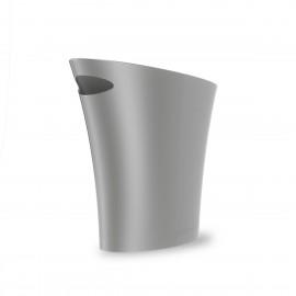 umbra skinny corbeille de bureau design argent plastique
