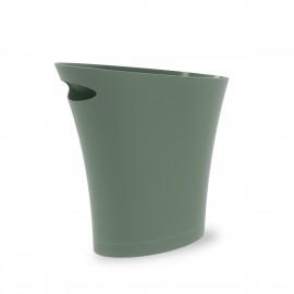 umbra skinny corbeille a papier epuree fine plastique vert kaki