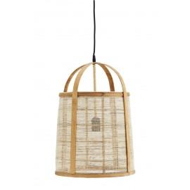 Suspension lanterne bambou lin Madam Stoltz