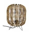 lampe de table lanterne bois bambou tresse madam stoltz