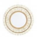 miroir soleil bois de bambou madam stoltz d 70 cm
