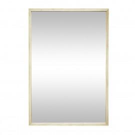 hubsch miroir mural rectangulaire cadre fin bois clair 60 x 90 cm