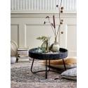 bloomingville hattie table basse ronde rotin noir