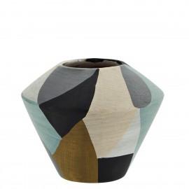 madam stoltz vase terre cuite multicolore graphique