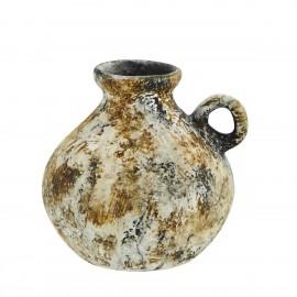 mini vase terre cuite brute artisanal ocre madam stoltz