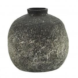 Petit vase rond terre cuite brut artisanal Madam Stotz