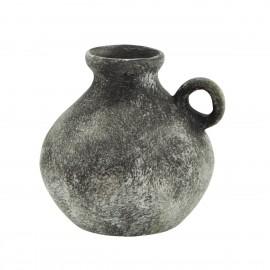mini vase antique terre cuite aspect pierre noire madam stotz
