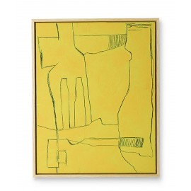 hk living tableau peinture brutalism jaune