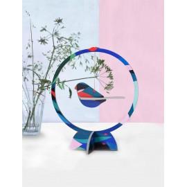 studio roof petit mobile decoratif a poser oiseau bouvreuil en carton