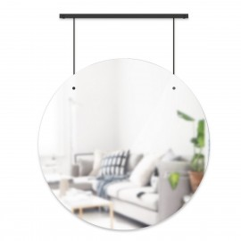 Miroir mural rond suspendu style contemporain Umbra Exhibit