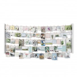 Multi porte-photos mural XL suspendu sur corde pinces à linge Umbra Hangit  XL