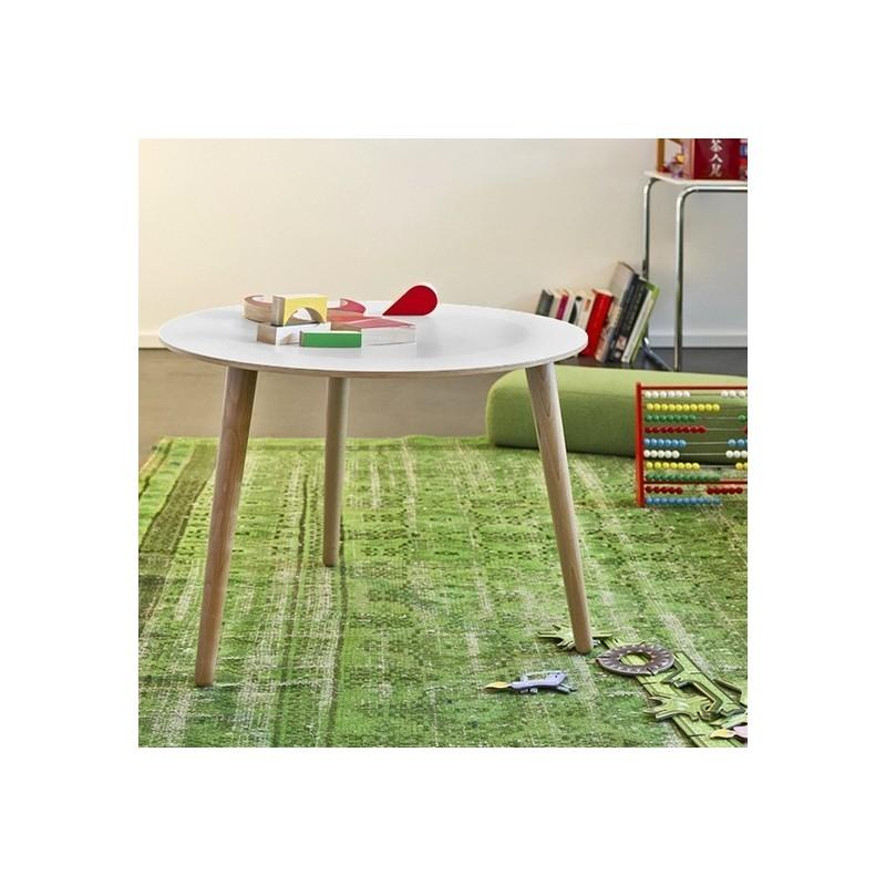 Table basse ronde bois design la bruna pulpo blanc kdesign - Table basse bois blanc ...