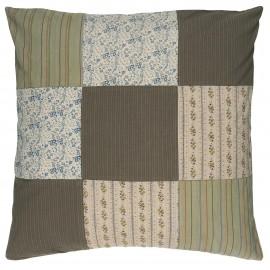 housse de coussin patchwork coton ton vert ib laursen 50 x 50 cm