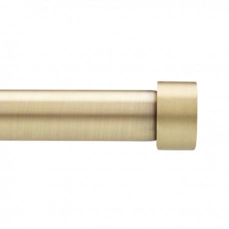 tringle a rideaux simple metal dore laiton moderne umbra cappa