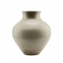 house doctor santa fe grand vase faience gris taupe