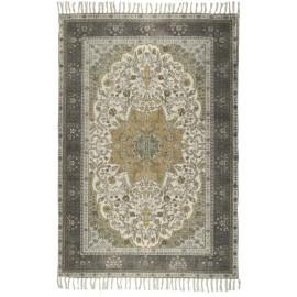 Tapis motif persan délavé usé vintage coton IB Laursen vert