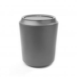 umbra corsa kera 1005487-149 poubelle design grise avec couvercle