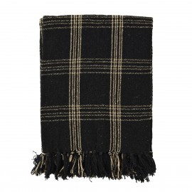 Plaid style grand carreau coton Madam Stoltz noir