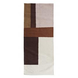madam stoltz tapis de couloir coton motif geometrique couleur chaude